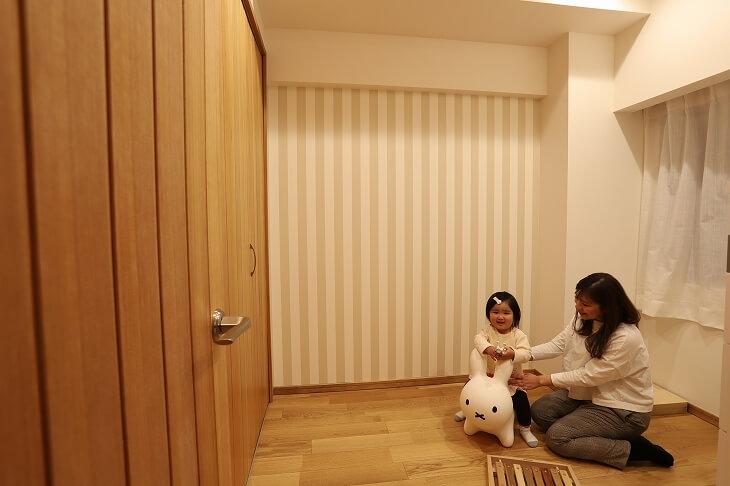 無垢材を使った子供部屋