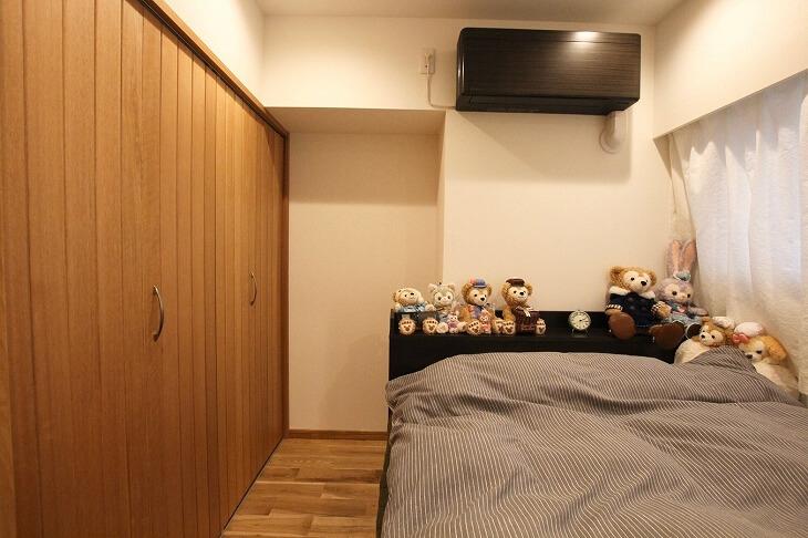 無垢材を使った寝室