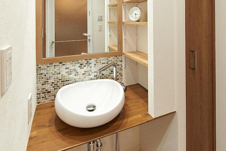 高くなるオプション|デザイン性の高い洗面台