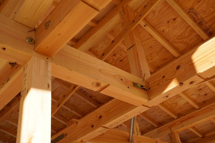 日本の一般的な戸建て住宅は、自由度の高い木造軸組工法でできている
