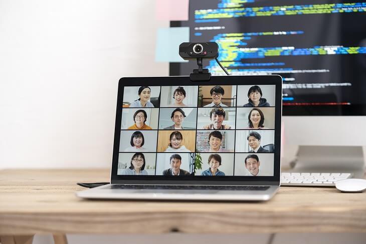オンラインミーティングの画面