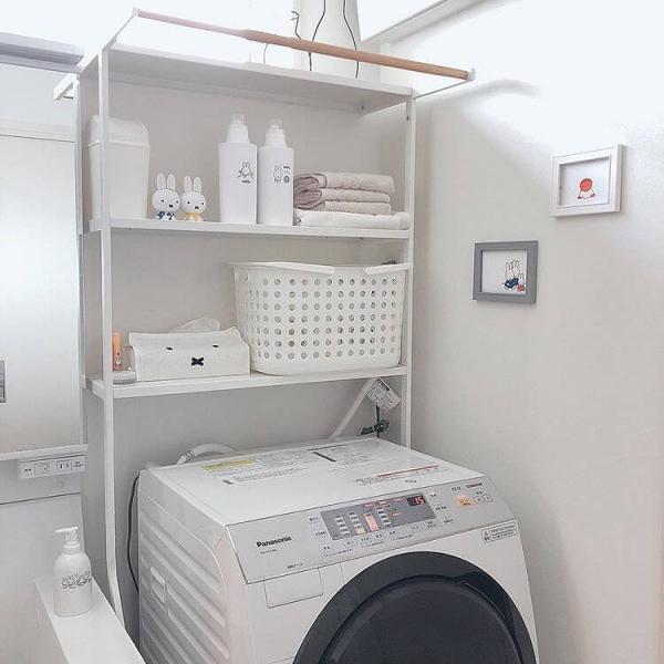 洗濯機。ランドリーラック