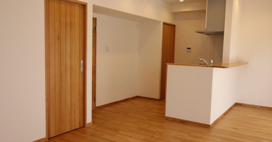 寝室までダブルアクセスできる回遊性ある部屋作り