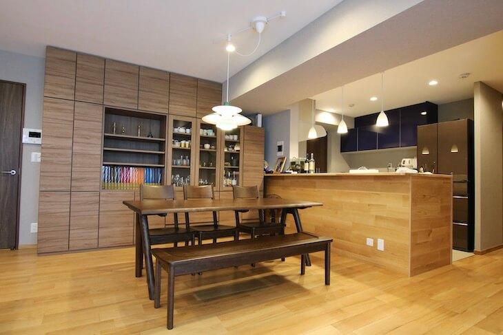 開放的なオープンキッチンで家族同士のコミュニケーションもとりやすい