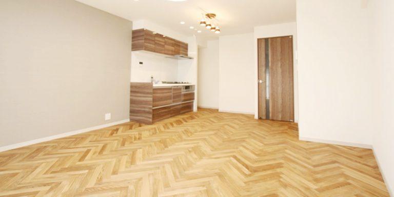 お部屋を広く使えるようにキッチンを配置、LDKを最大限に活用できます