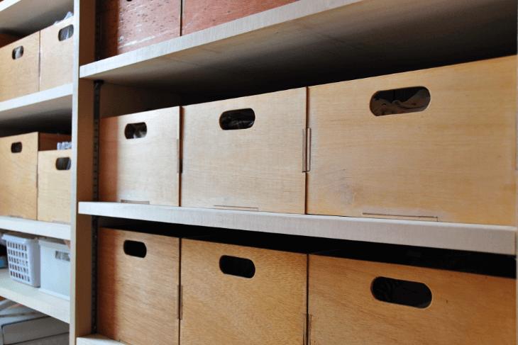 収納棚全面タイプ:壁面全てが棚