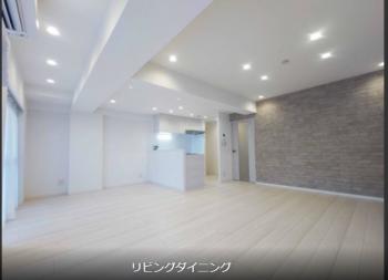【ドミール下井草 207号室】駅徒歩1分。19帖のリビングが魅力的な杉並の「白い部屋」